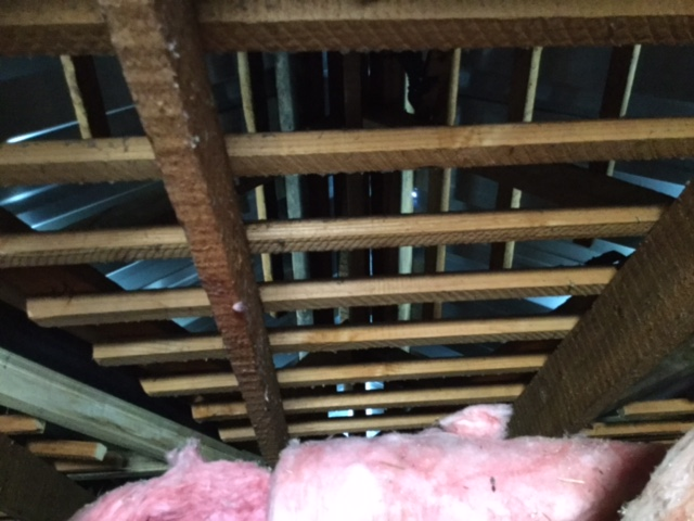 Knotty Pine Ceiling Repair