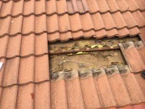 Leak Caused By Under Tile Insulation Has Disintegrated